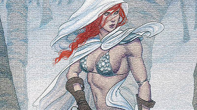 Red Digital Art - Red Sonja by Super Lovely