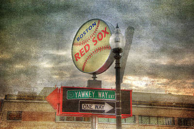 Red Sox Art - Boston Art Print by Joann Vitali