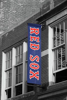 Photograph - Red Sox Banner - Fenway Park by Allen Beatty