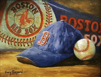 Red Sox Painting - Red Sox Nation by Gary Shepard