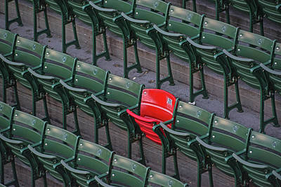 Photograph - Red Sox Ted Williams Homerun Red Seat Close Up by Toby McGuire