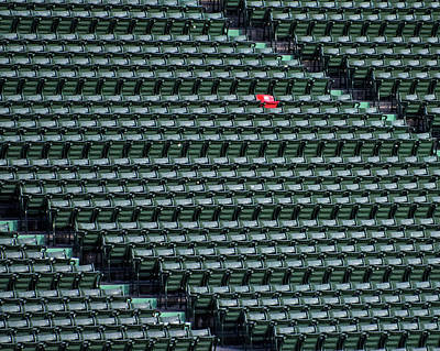 Photograph - Red Sox Ted Williams Homerun Red Seat by Toby McGuire