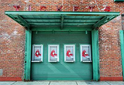 Red Sox Ticket Counter Art Print by SoxyGal Photography