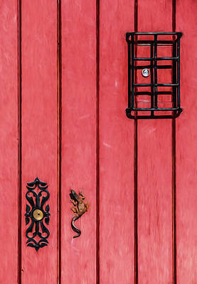 Photograph - Red Speakeasy Door by David Letts