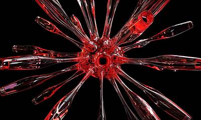 Digital Art - Red Spires Of Glass by William Ladson