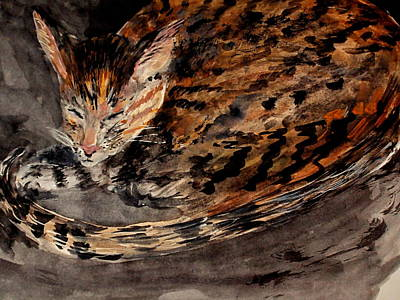 Painting - Red Spot Tabby by Nancy Kane Chapman
