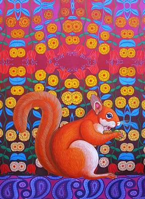 Red Squirrel Print by Jane Tattersfield