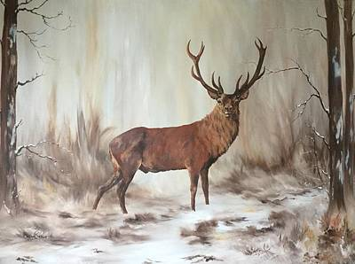 Painting - Red Stag by Jean Walker