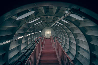 Incline Photograph - Red Stairs by Chris Fletcher