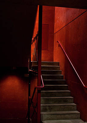 Photograph - Red Stairs by Elena Nosyreva