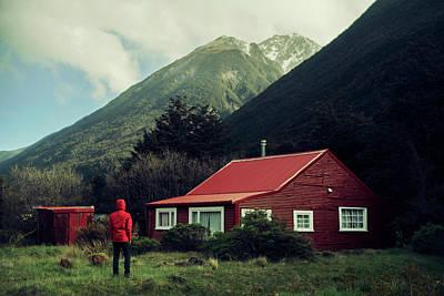 Mountain Cabin Wall Art - Photograph - Red Stalker Hood by Jose Manuel Rios Valiente