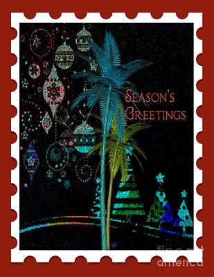 Digital Art - Red Stamp by Megan Dirsa-DuBois