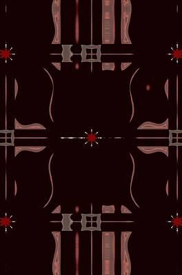 Digital Art - Red Star Image by Sheila Mcdonald