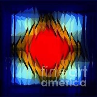 Digital Art - Red Star by Lisa Marie Towne