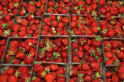 Art Print featuring the photograph Union Square Market Red Strawberries by Diane Lent