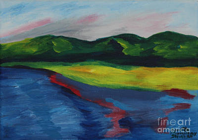 Painting - Red Streak Lake by Annette M Stevenson
