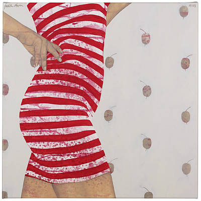 Atkinsky Painting - Red Striped Dress  by Judith Sturm