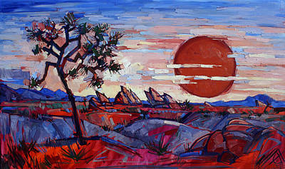 Painting - Red Sun by Erin Hanson