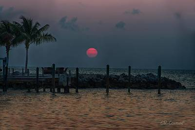 Photograph - Red Sun In The Keys by CR Courson