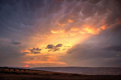 Red Sun Mammatus Cloud Art Print by Brad Stinson