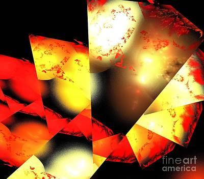 Digital Art - Red Sun Shell by Kim Sy Ok