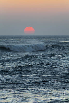 Photograph - Red Sun With Wave by Sharon Foelz