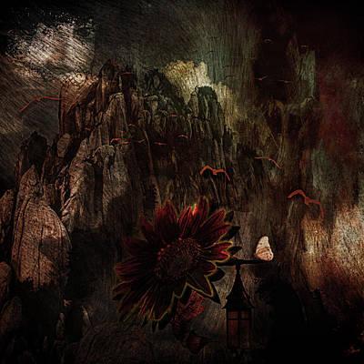 Digital Art - Red Sunflower by Richard Ricci