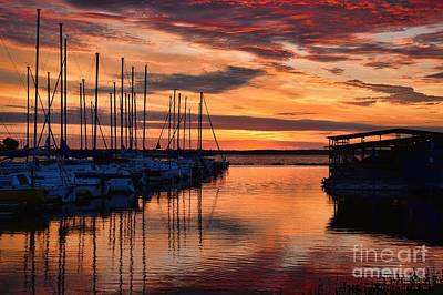 Photograph - Red  Sunrise by Diana Mary Sharpton