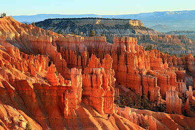 Red Sunrise Glow On The Hoodoos Of Bryce Canyon Art Print by Pierre Leclerc Photography