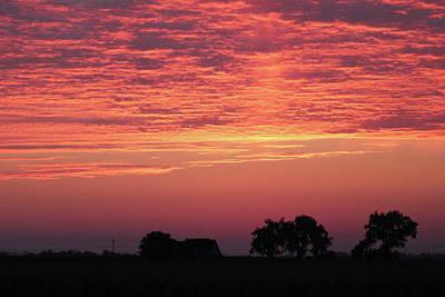 Photograph - Red Sunrise by Trent Mallett
