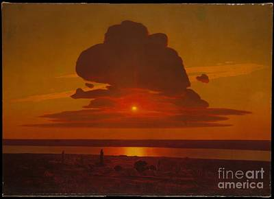 Dnieper Wall Art - Painting - Red Sunset  by MotionAge Designs