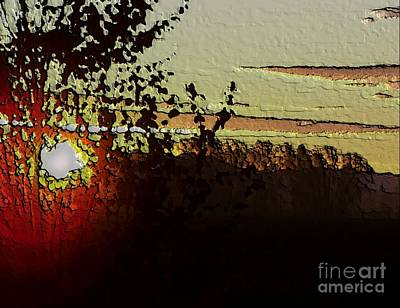 Art Print featuring the photograph Red Sunset by Erica Hanel