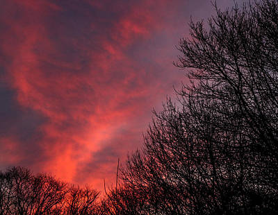 Bath Time - Red sunset by James Nalesnik