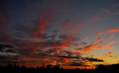 New Glasgow Photograph - Red Sunset by Kathleen Sartoris