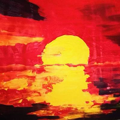 Photograph - Red Sunset by Love Art Wonders By God