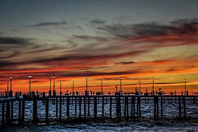 Redondo Beach Pier Wall Art - Photograph - Red Sunset Afterglows by Yvonne Kazerouni