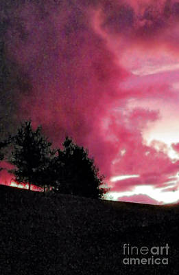 Photograph - Red Sunset by Shirley Moravec