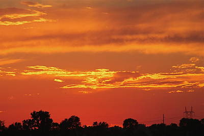 Studio Grafika Vintage Posters - Red Sunset by Wayne Williams