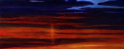 Painting - Red Sunset -west Mesa by Jack Atkins