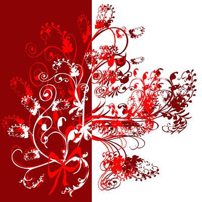 Red Swirl Art Print by Svetlana Sewell