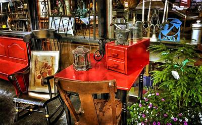 Photograph - The Red Table by Thom Zehrfeld