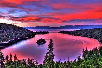 Red Tahoe Art Print by Scott Mahon