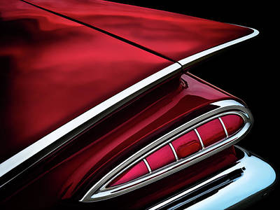 Chrome Wall Art - Digital Art - Red Tail Impala Vintage '59 by Douglas Pittman