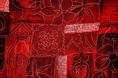 Shades Of Red Digital Art - Red Tapestry by Billy Soden