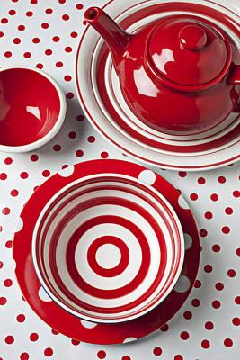 Teapot Photograph - Red Teapot by Garry Gay