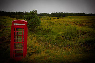 Photograph - Red Telephone Booth by Avril Christophe