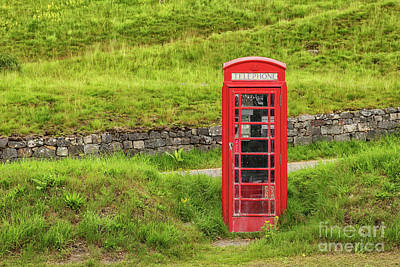 Photograph - Red Telephone Booth by Patricia Hofmeester