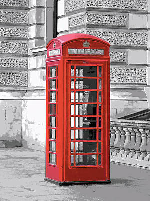 Red Telephone Box Original by Comicks