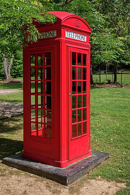 Photograph - Red Telephone Box by Guy Whiteley