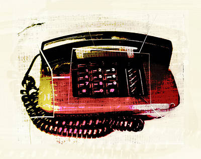 Photograph - Hot Red Phone by Susan Stone